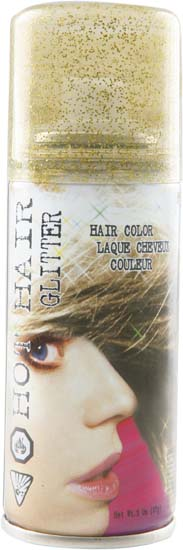 Gold Glitter Hair Spray