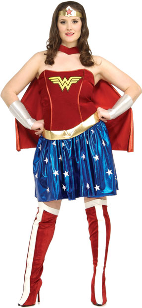 Plus Size Sexy Wonder Woman Costume