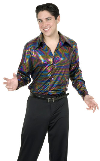 Adult 70's Disco Glitter Shirt