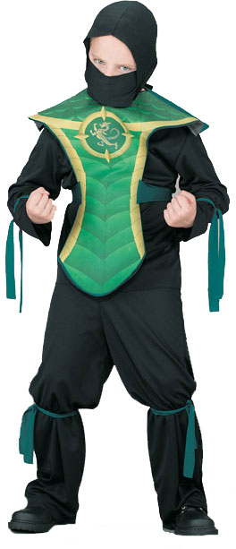 Child's Jackie Chan Green Dragon Costume