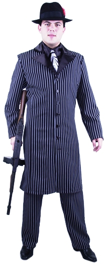 Adult Long Gangster Suit Costume