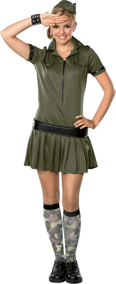 Teen Sexy Army Girl Costume