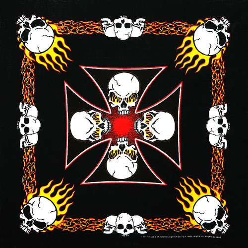 Flaming Skulls Bandanas
