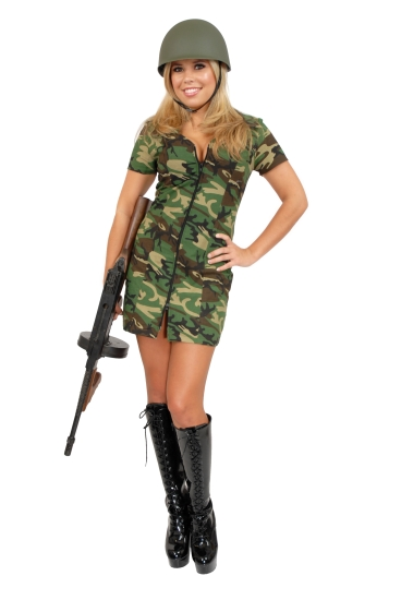 Adult Sexy GI Army Girl Costume