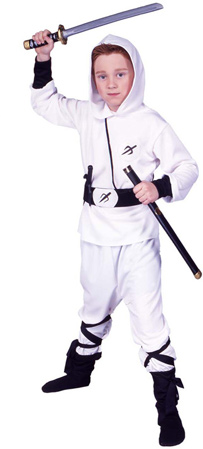 Child's White Ninja Costume
