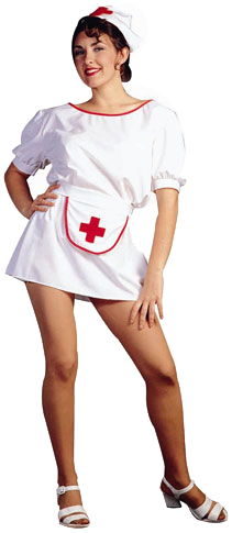 Adult Sexy Nurse Apron Costume