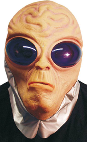 Purple Eye Alien Costume Mask