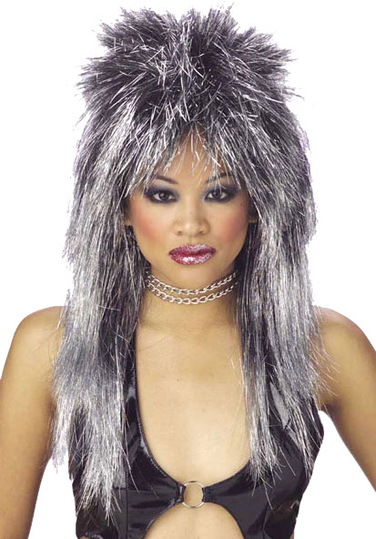Women's Vibe Silver Shimmer Wig