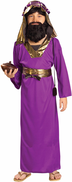 Child's Purple Wise Man Biblical Costume