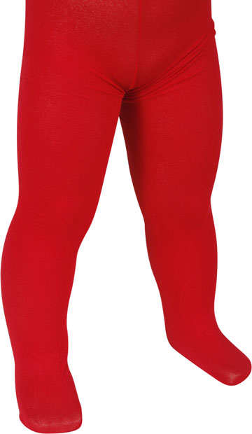 Child's Solid Red Tights