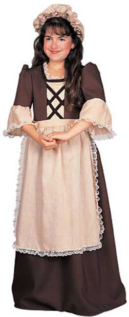 Deluxe Child's Colonial Girl Costume