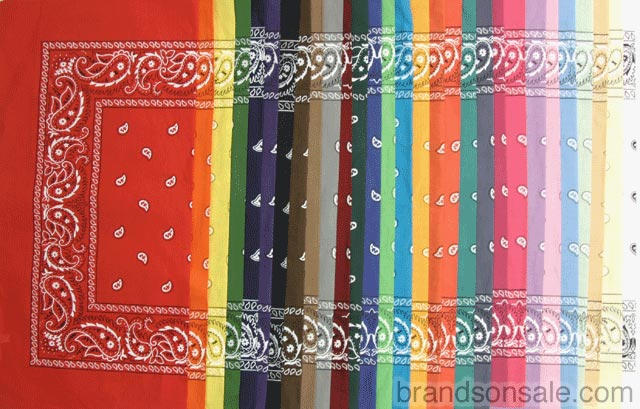 Paisley Bandanas Selection 29pc