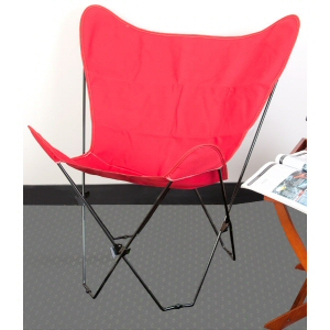 Red Butterfly Chair Cover