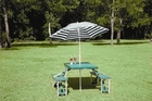 Folding Plastic Picnic Table With Umbrella