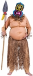 Adult Fat Tiki Warrior Costume