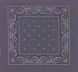 Gray Paisley Bandanas Wholesale in Light Or Dark