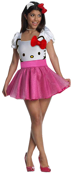 Adult Hello Kitty Tutu Dress Costume