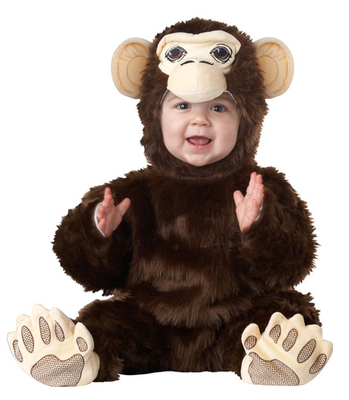 Toddler Plush Chimpanzee Costume