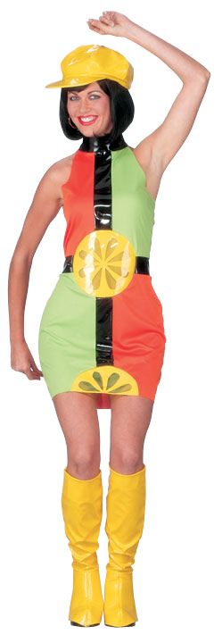 Lemon Go-Go Dress Costume