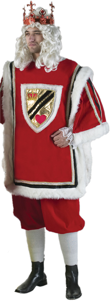 Men's Deluxe King of Hearts Costume
