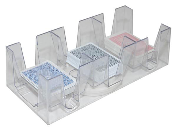 3 Double Deck Revolving Card Tray