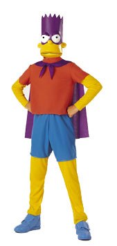 Child's Bart Man Simpson Costume