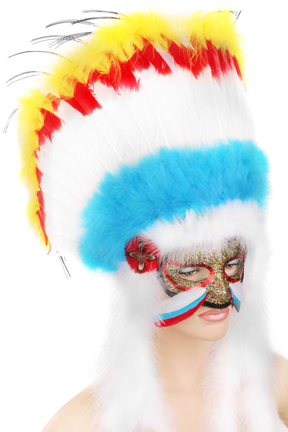 Indian Princess Feather Eye Mask