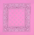 Pink Paisley Bandanas In Light Pink or Hot Pink