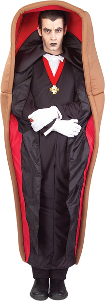 Adult Dracula In Coffin Costume