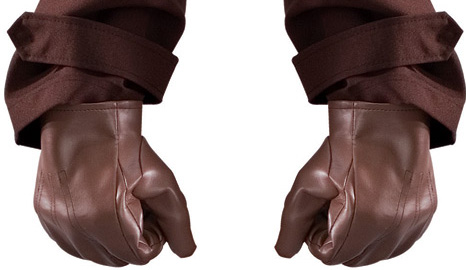 Watchmen Rorschach Costume Gloves