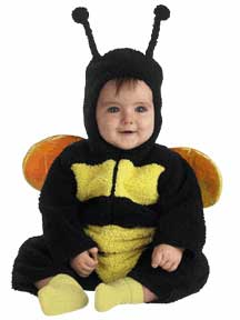 Baby Furry Bumble Bee Costume