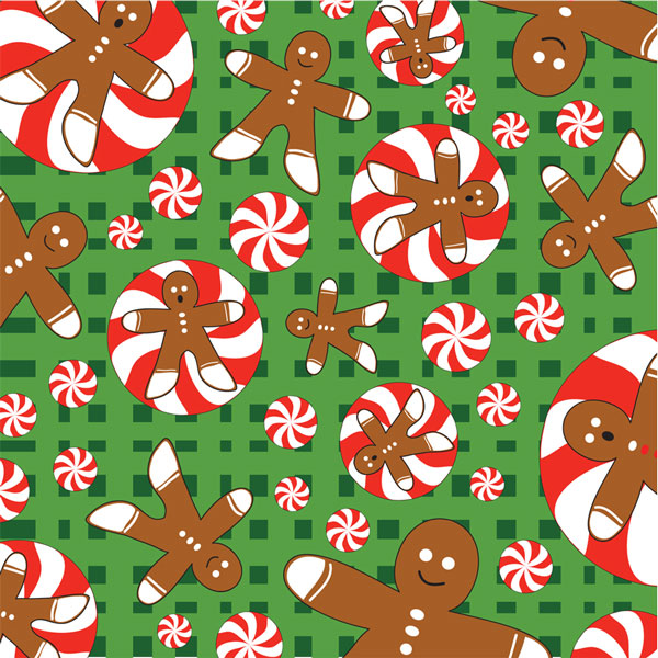 Gingerbread Men Bandanas