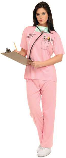 Adult Pink Nurse Costume