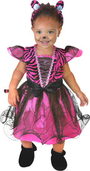 Baby Pink Tiger Costume Dress