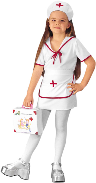 Child's Classic White Nurse Costume
