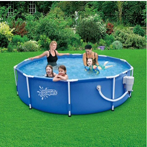 "Summer Escapes 10' x 30"" Frame Pool with 600 GPH Skimmer Pump"