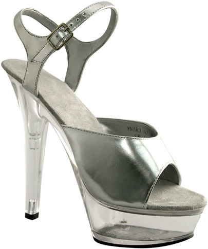 Sexy High Heel Silver Platform Shoes