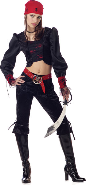 Teen Gothic Pirate Costume