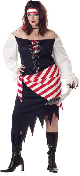 Plus Size Women's Ruby Pirate Costume