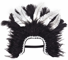 Black & White Feather Headpiece