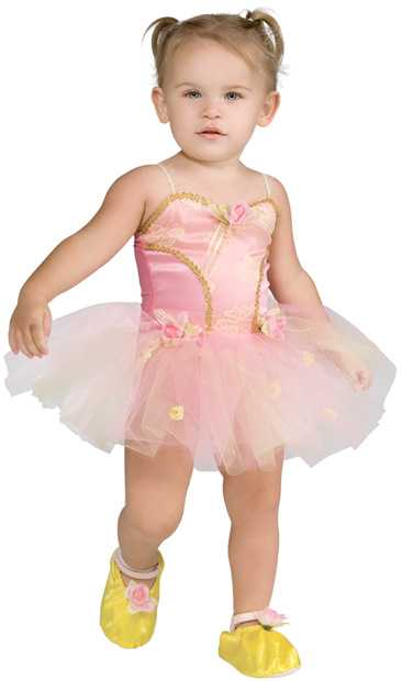 Toddler Pink Ballerina Girl Costume
