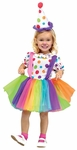 Girl's Cute Little Clown Dress