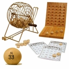 9 inch Wooden Bingo Set with Metal Frame