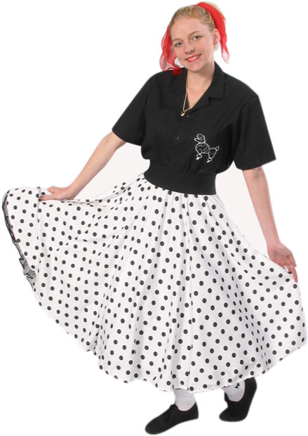 Adult 50s Sock Hop Skirt