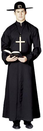 Adult Colonial Priest Costume