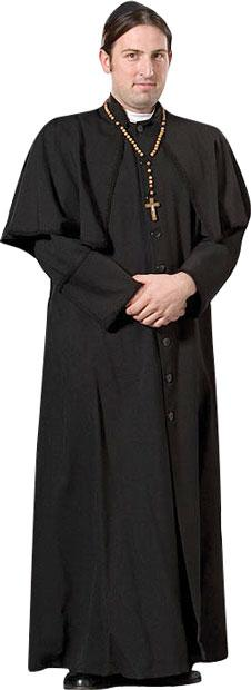 Roman Catholic Priest Theater Plus Size Costume