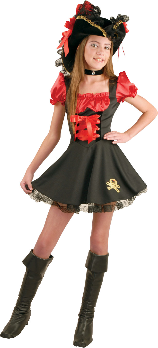 Preteen Red Storybook Pirate Costume
