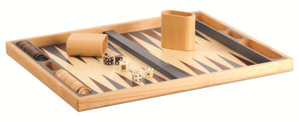 19 inch Non Folding Beech Backgammon