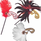 Mardi Gras Masks on Sticks