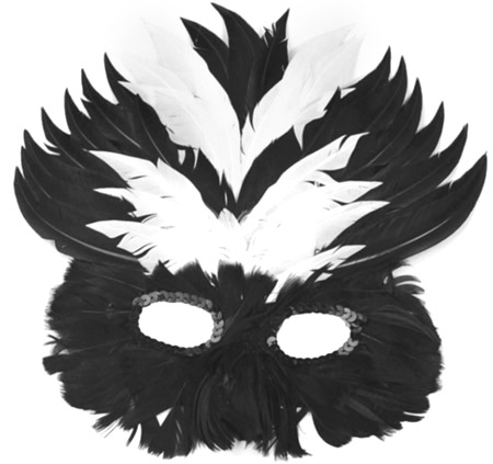 Black & White Feather Eye Mask